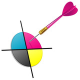 Fototapety CMYK darts