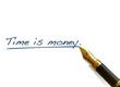 "Handwritten Words - ""Time is money"""