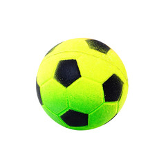 Soccer ball toy Isolated on white