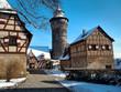 Leinwanddruck Bild - Nürnberger Burg im Winter