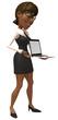 Femme active avec un portable