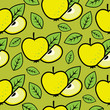 roleta: Seamless bright pattern with delicious apples