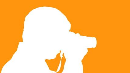 Photographer silhouette against orange - HD