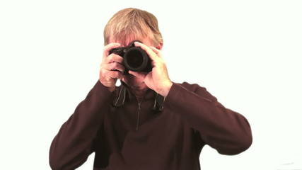 Photographer against white background - HD