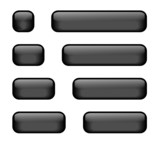 Rectangular Buttons of varying lengths (black) poster