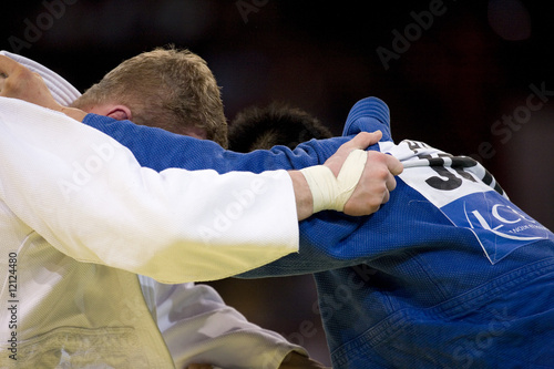 Leinwanddruck Bild Judo