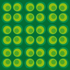Retro kreise grün
