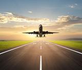 Fototapety airplane landing