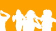 Animation of orange dancers