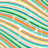 Grungy vector background of bended stripes