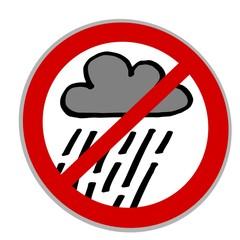 regen verbot