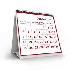 2009 calendar. October