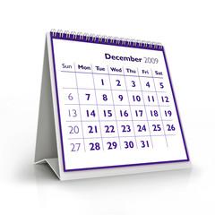 2009 calendar. December