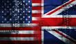 Quadro UK USA FLAG