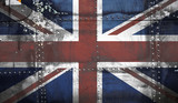 Grungy United kingdom flag poster