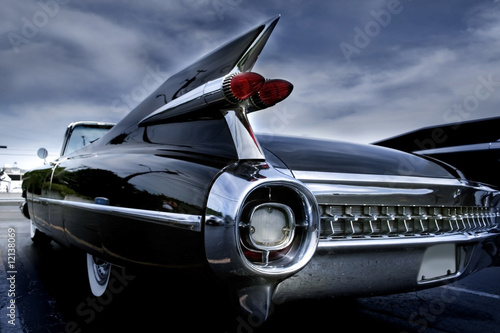 Tuinposter Vintage cars Tail Lamp Of A Classic Car