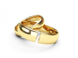 break gold wedding rings