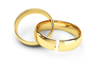 break gold wedding rings
