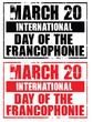 march 20 - international day of francophonie