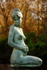 Statue in the gardens in Merrion Square in Dublin 2