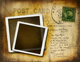 Fototapety Vintage postcard with grungy background