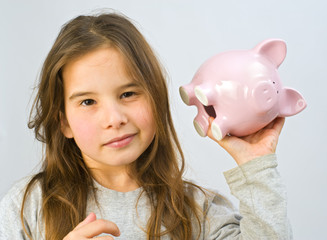 girl piggy bank
