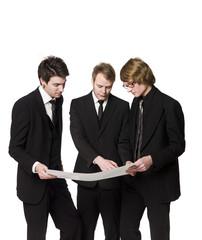 Men discussing a plan