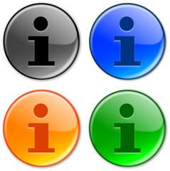 """Information Symbol"" buttons (various colours)"
