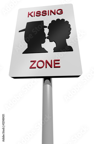 kissing zone