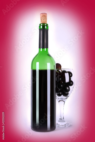 wine-glassful on red