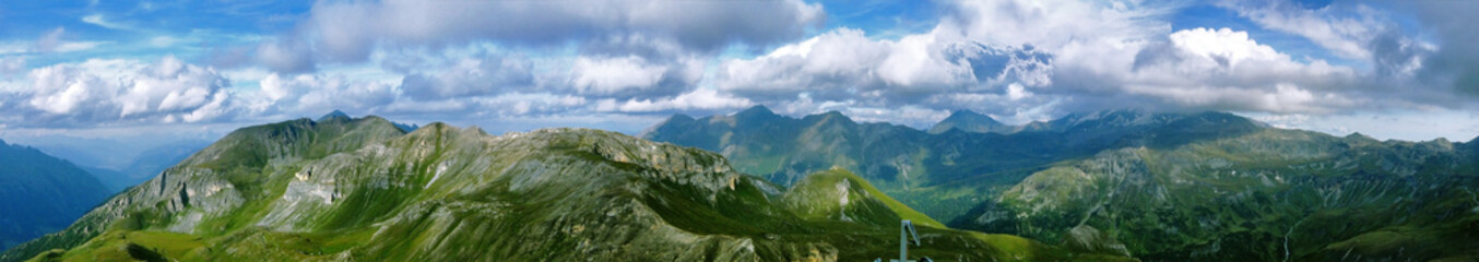 Panorama view from alps