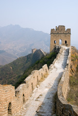 Tower of famous great wall in the Simatai