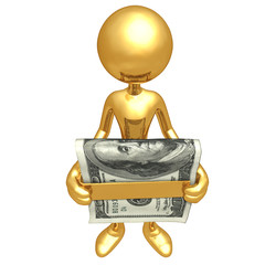 Holding A Money Clip