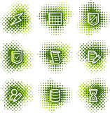 Database web icons, green dots series poster