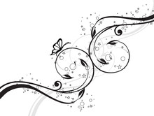 arabesque floral papillons étoiles