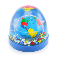 Colored decorative globe isolated