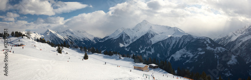 Panoramic view Alps in Austria