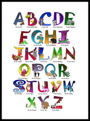 Animal Themed Alphabet & Titles        (Numbers Available)