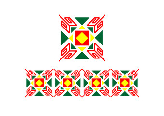 A coloured bashkir ornament unit