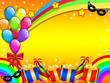 Colourful Carnival party card