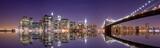 Fototapety New York skyline and reflection at night