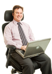 Working in Ergonomic Chair