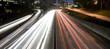 Los Angeles freeway at night