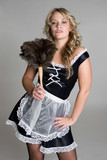 French Maid With Feather Duster poster