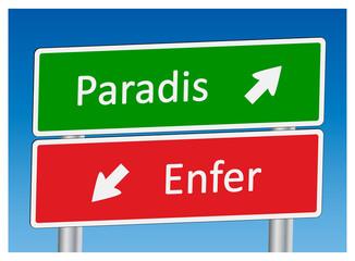 """Panneaux """"Paradis"""" et """"Enfer"""""""
