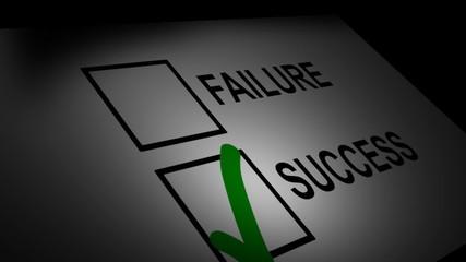 Failure and success checklist