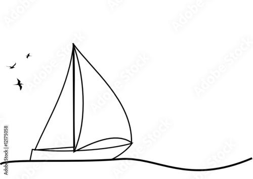 Dessin de voilier fichier vectoriel libre de droits sur la banque d 39 images image - Voilier dessin ...