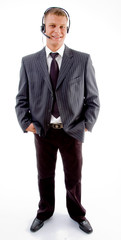 full view of professional businessman