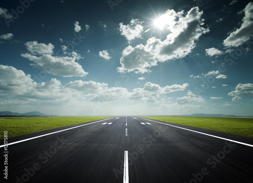 airport runway on a sunny day
