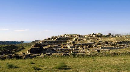rovine del tempio etrusco di tarquinia